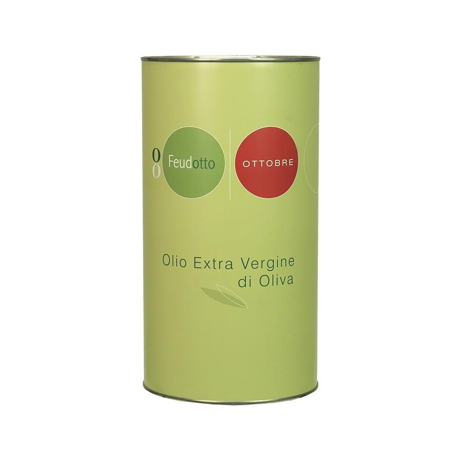 Latta dalla forma cilindrica da 5 litri di Olio Extra Vergine di Olio.